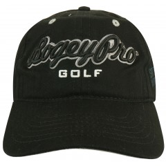 Swing Harder BogeyPro Golf Hat: Black