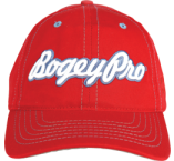 Swing Harder BogeyPro Golf Hat: Red