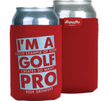 """'I'm a Golf Pro"" Can Cooler"