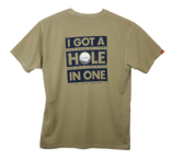 "Read Closer ""Hole in One"" T-Shirt - Sand"
