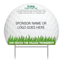 "Custom Sponsor Tee Signs - ""Tips"""