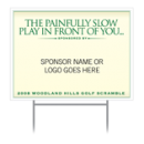 "Custom Sponsor Tee Signs - ""Country Club"""