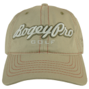 Swing Harder BogeyPro Golf Hat: Stone