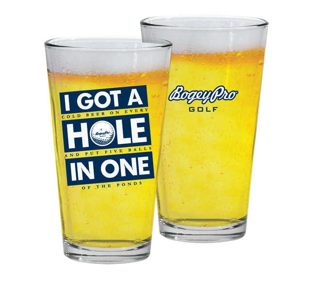 "Read Closer ""Hole in One"" Beer Pint"