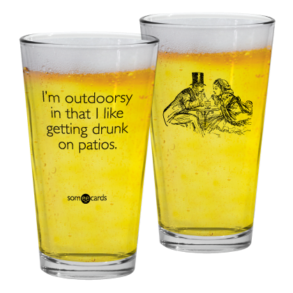 "Someecards ""Outdoorsy"" Pint"