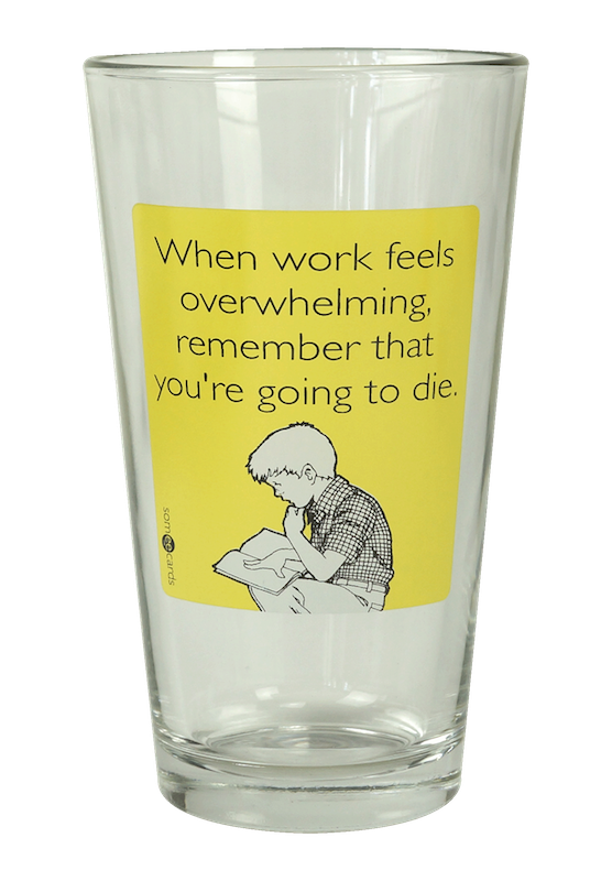 "Someecards ""Work Overwhelming"" Pint - Yellow"