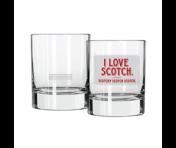 Anchorman Cocktail Glass: I Love Scotch