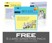 FREE Someecards 5-pack with any $25 order