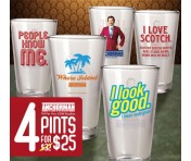 Mix & Match Anchorman Pints - set of 4