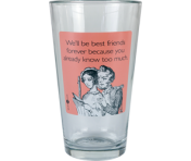 "Someecards ""Best Friends Forever"" Pint - Pink"