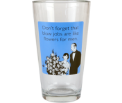 "Someecards ""Flowers For Men"" Pint - Blue"