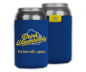 Drink Wisconsinbly Can Cooler - Blue