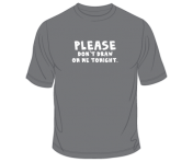 """Please Don't Draw on Me"" T-Shirt"