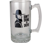 "BustedTees ""Amish Don't Drink or Drive"" Super Mug"