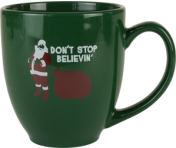 "BustedTees ""Don't Stop Believing."" Bistro Mug"
