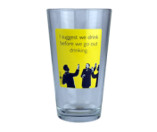 "Someecards ""Drink Before Drinking"" Pint - Yellow"