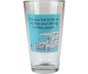 "Someecards ""Driving Terrifies People"" Pint - Aqua"