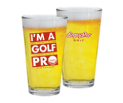 "Read Closer ""Golf Pro"" Beer Pint"