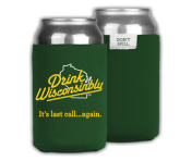 Drink Wisconsinbly Can Cooler - Green