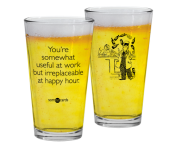 "Someecards ""Irreplaceable at Happy Hour"" Pint"