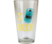 "BustedTees ""I Beer Beer"" Pint"