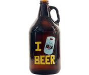 "BustedTees ""I Beer Beer"" Growler"
