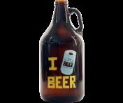 """BustedTees """"I Beer Beer"""" Growler"""