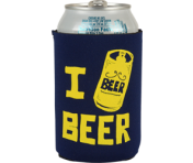 "BustedTees ""I Beer Beer"" Can Cooler"