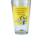 "Someecards ""Irreplaceable at Happy Hour"" Pint - Yellow"