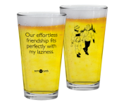 "Someecards ""Effortless Friendship"" Pint"