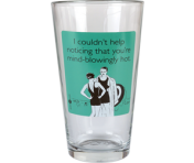 "Someecards ""Mind-Blowingly Hot"" Pint - Teal"
