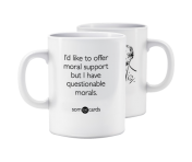 "Someecards ""Questionable Morals"" Mug"