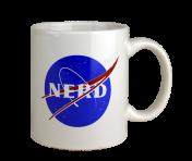 """BustedTees """"Nerd"""" Mug"""