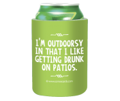 "Someecards ""Outdoorsy"" Can Cooler"