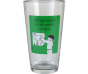 "Someecards ""Out of Control"" Pint - Green"