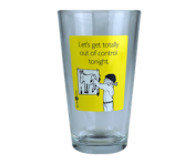 "Someecards ""Out of Control"" Pint - Yellow"
