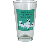 "Someecards ""Party Doesn't Suck"" Pint - Green"