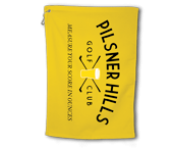 "BogeyPro Golf Towel: Fake Courses ""Pilsner Hills"""