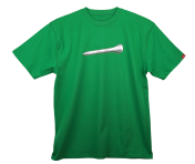"""Plain White Tee"" T-Shirt: Green"