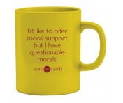 "Someecards ""Questionable Morals"" Mug - Yellow"