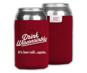 Drink Wisconsinbly Can Cooler - Red