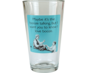 "Someecards ""Booze Talking"" Pint - Aqua"