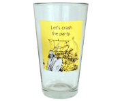 "Someecards ""Crash the Party"" Pint - Yellow"