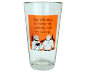 "Someecards ""Effortless Friendship"" Pint - Orange"