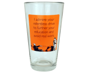 "Someecards ""Relentless Drive"" Pint - Orange"
