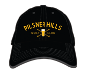 """Pilsner Hills"" Golf Hat Black"