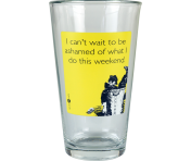 "Someecards ""Ashamed"" Pint - Yellow"