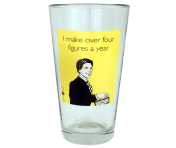 "Someecards ""Four Figures"" Pint - Yellow"